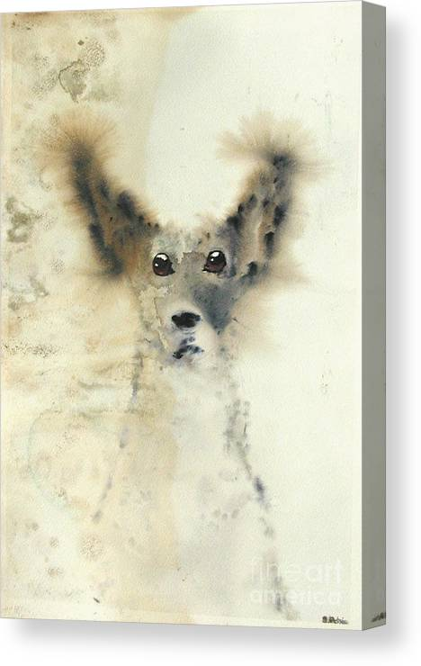 Dog Canvas Print featuring the painting dog by Sarah Goodbread