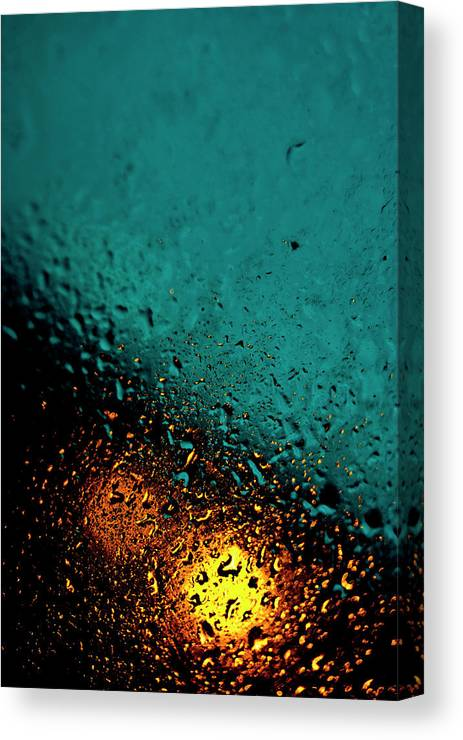 Droplets Canvas Print featuring the photograph Droplets Xxii by Grebo Gray