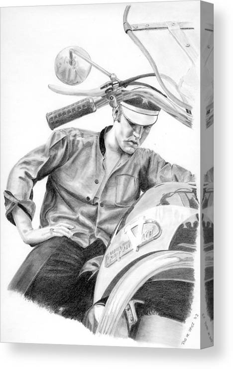 Singer Canvas Print featuring the drawing Elvis Presley by Rob De Vries