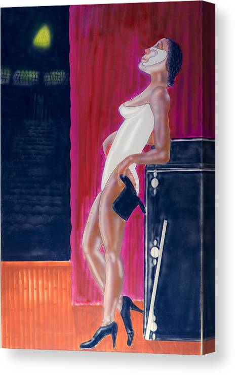 Stage Canvas Print featuring the photograph Fancy Dancer by Ronald Watkins
