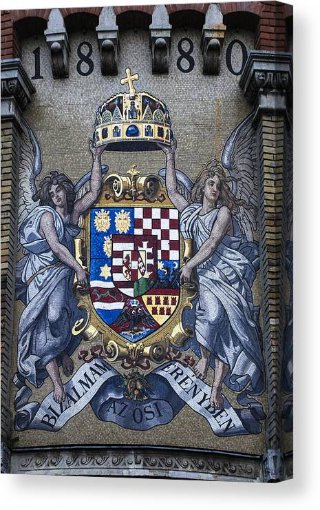 Franz Joseph Canvas Print featuring the photograph Franz Joseph Motto by David Waldo