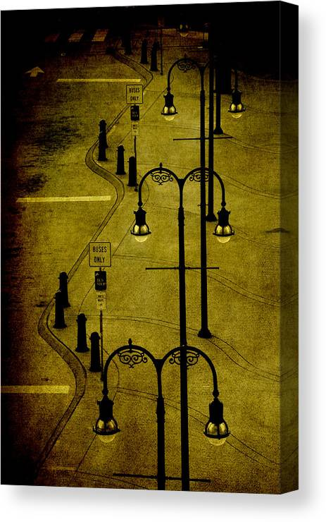 Lantern Canvas Print featuring the photograph Green Light by Susanne Van Hulst