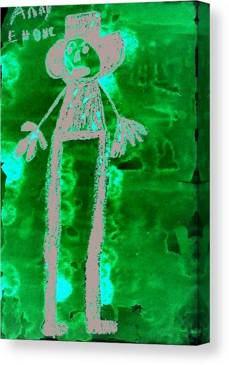Abstract Canvas Print featuring the mixed media Husband by Todd Dehart