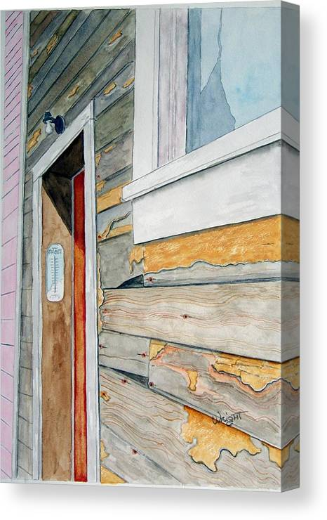 House Canvas Print featuring the painting Juneau Townhouse by Larry Wright