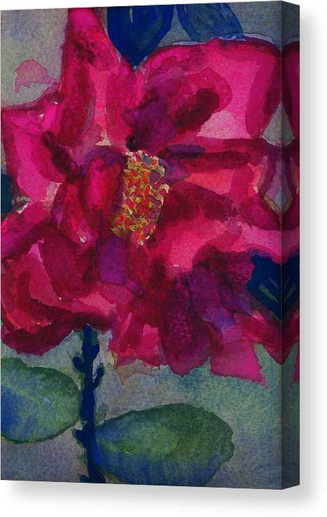 Pinks Canvas Print featuring the painting Last Rose Of Summer by Helen Musser