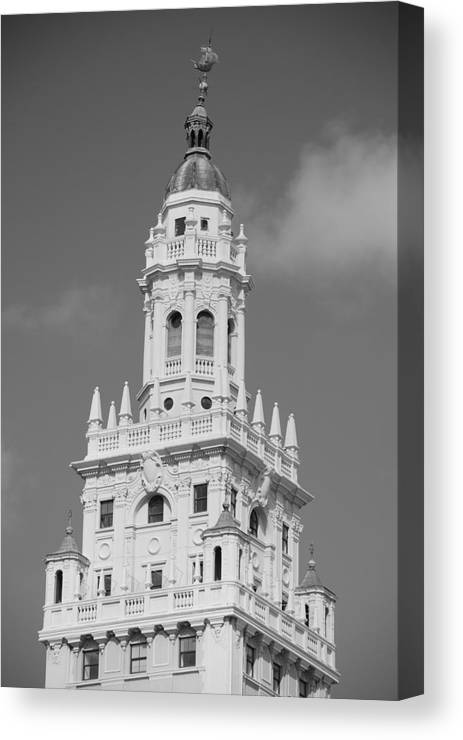 Architecture Canvas Print featuring the photograph Miami Tower by Rob Hans