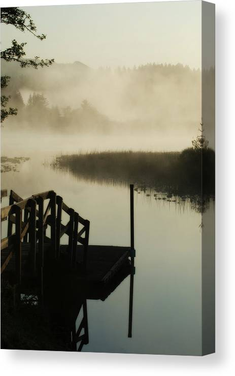 Oregon Canvas Print featuring the photograph Misty Oregon Morning by Renee Hong