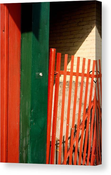 Montreal Canvas Print featuring the photograph Mntrl Orange Gate 2 by Art Ferrier