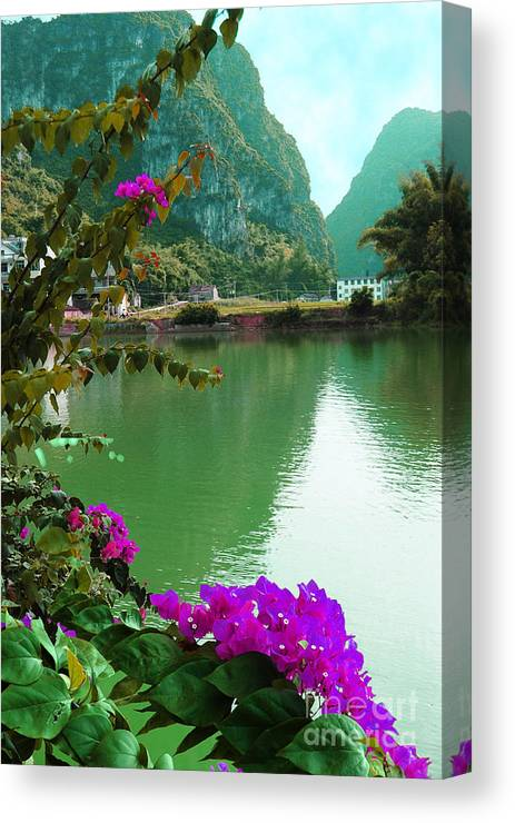 Landscape Canvas Print featuring the photograph Mystic Beauty by Dot Xie