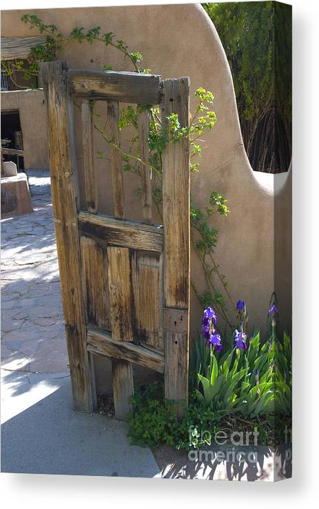 Gate Canvas Print featuring the photograph Old Gate by Jim Wright
