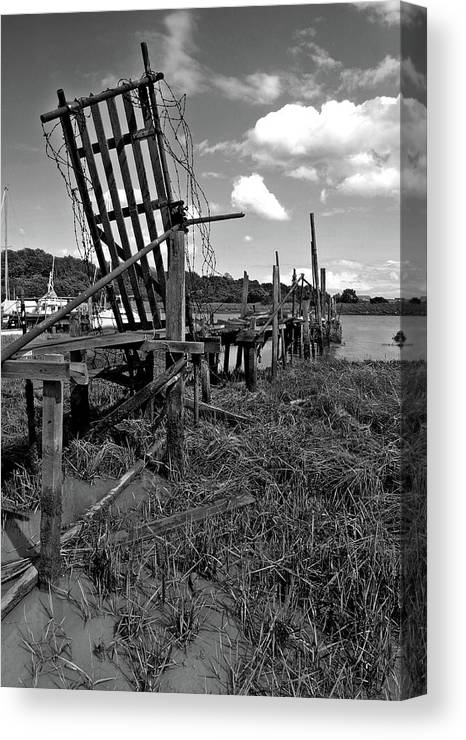 Moorings Canvas Print featuring the photograph Old Moorings by Mike Bambridge