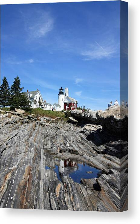 Lighthouse Canvas Print featuring the photograph Pemaquid Light by Becca Wilcox