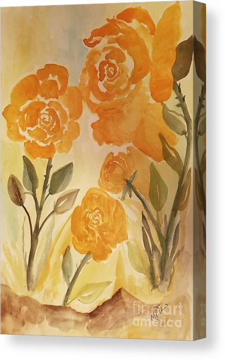 Rose Gold Canvas Print featuring the photograph Rose Gold by Maria Urso