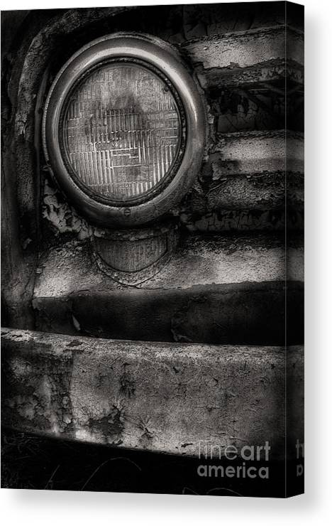 Scotopic Canvas Print featuring the photograph Scotopic Vision 7 - Headlight by Pete Hellmann