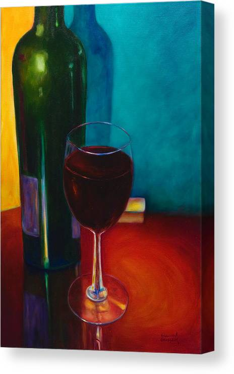 Wine Bottle Canvas Print featuring the painting Shannon's Red by Shannon Grissom