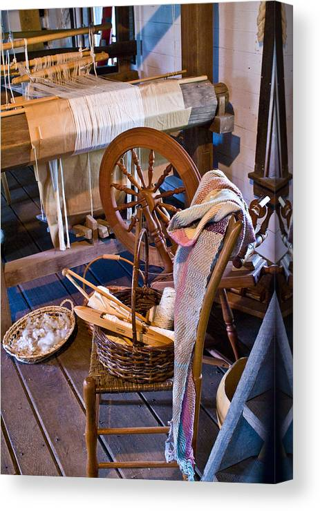 Spinning Canvas Print featuring the photograph Spinning And Weaving by Douglas Barnett