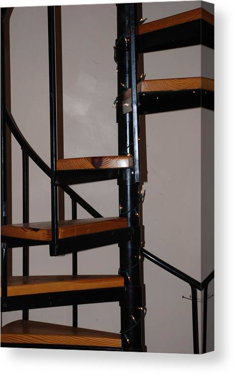 Stairs Canvas Print featuring the photograph Spiral Stairs by Rob Hans