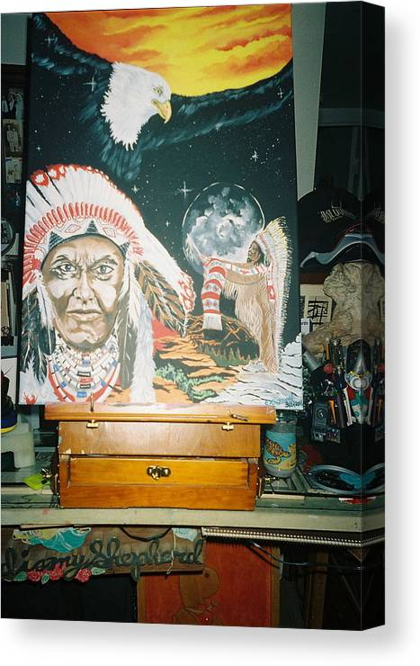 Southwest Canvas Print featuring the painting Spirit Of The Chief by Richard Erickson