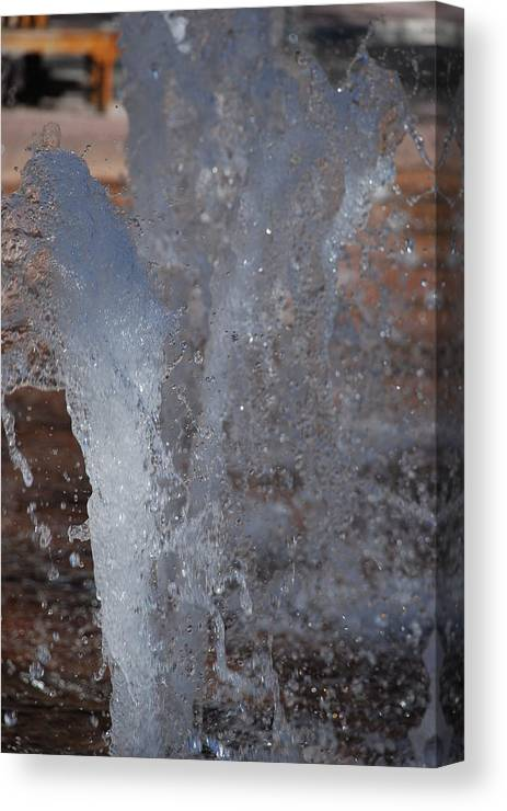 Water Canvas Print featuring the photograph Splash by Rob Hans