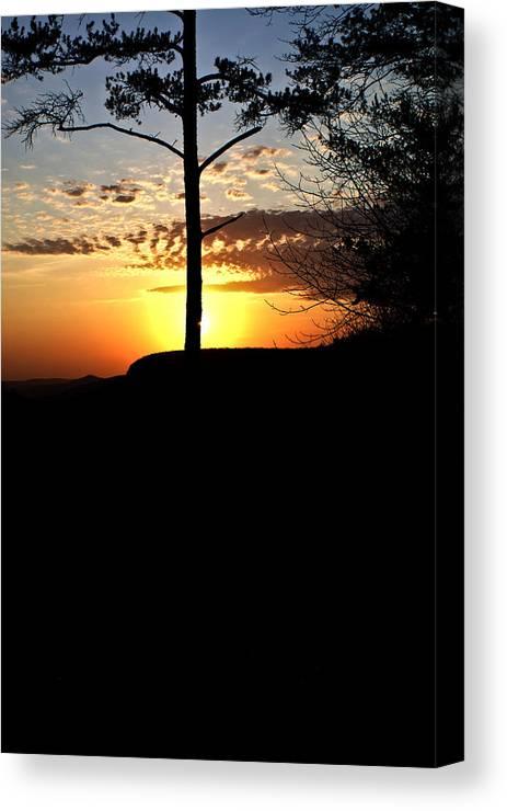 Sunburst Canvas Print featuring the photograph Sunburst Sunset by Douglas Barnett