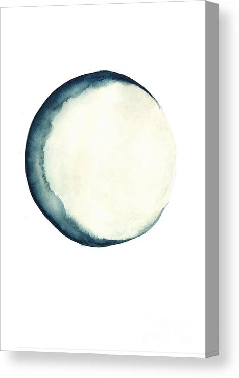 Moon Canvas Print featuring the painting The Moon Watercolor Poster by Joanna Szmerdt