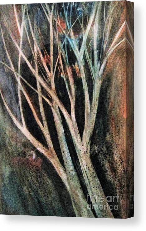 Trees Canvas Print featuring the painting Trees That Tumble by Angela Cartner