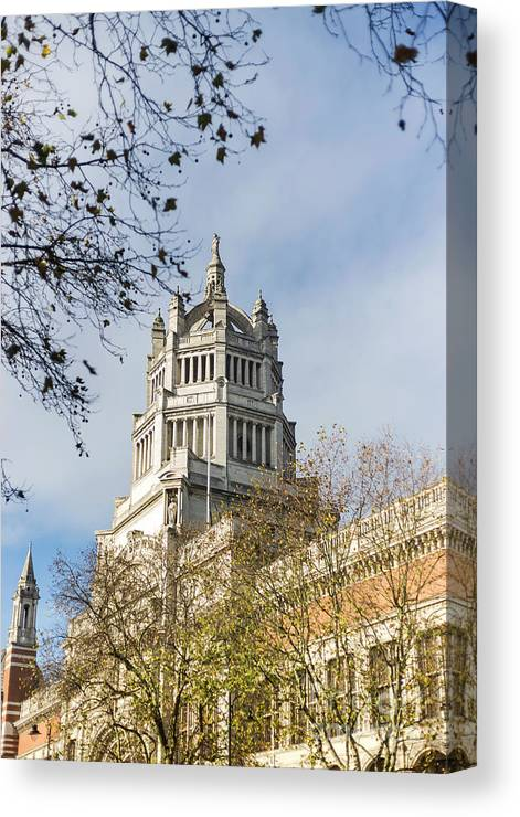Victoria And Albert Museum Canvas Print featuring the photograph Victoria And Albert Museum London by Alex Art and Photo