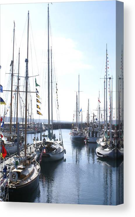 Boat Festival Canvas Print featuring the photograph Wooden Boats by Sonja Anderson