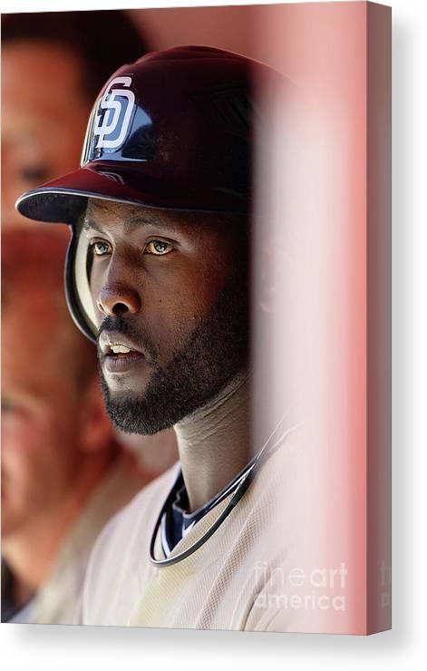 Tony Gwynn Jr. Canvas Print featuring the photograph San Diego Padres V Arizona Diamondbacks by Christian Petersen