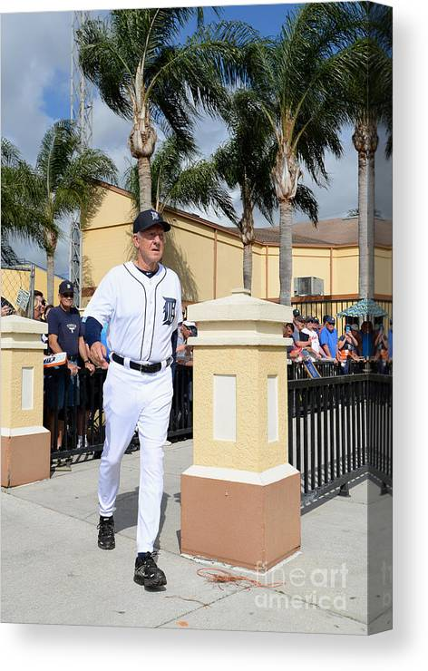 People Canvas Print featuring the photograph Al Kaline by Mark Cunningham