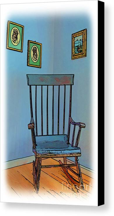 Antique Canvas Print featuring the photograph Antique Rocking Chair by Harold Bonacquist