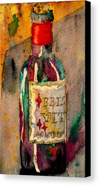 Wine Canvas Print featuring the painting Bella Vita by Beverley Harper Tinsley