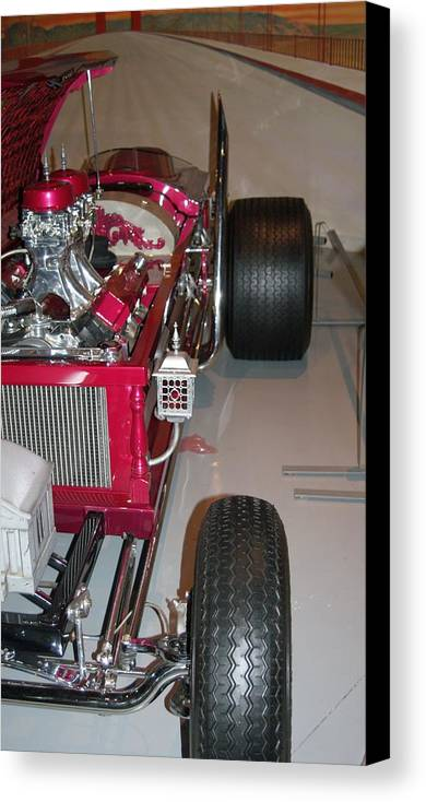 Coffin Car Canvas Print featuring the photograph Coffin Car by Rob Luzier