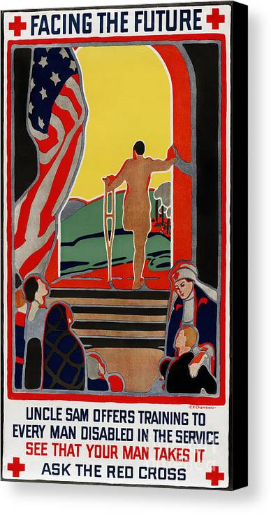 1919 Canvas Print featuring the photograph Red Cross Poster, 1919 by Granger