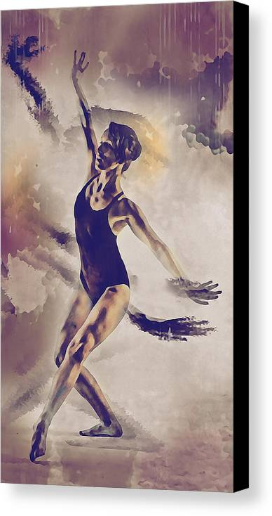 Dance Canvas Print featuring the digital art Shadow Dance by Galen Valle