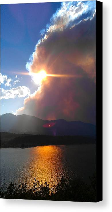 Lake Canvas Print featuring the photograph Tempestuous. by Leslizabeth O