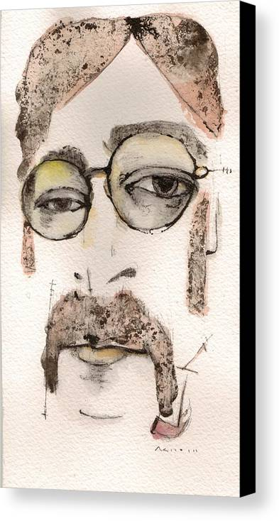 The Beatles Canvas Print featuring the painting The Walrus As John Lennon by Mark M Mellon