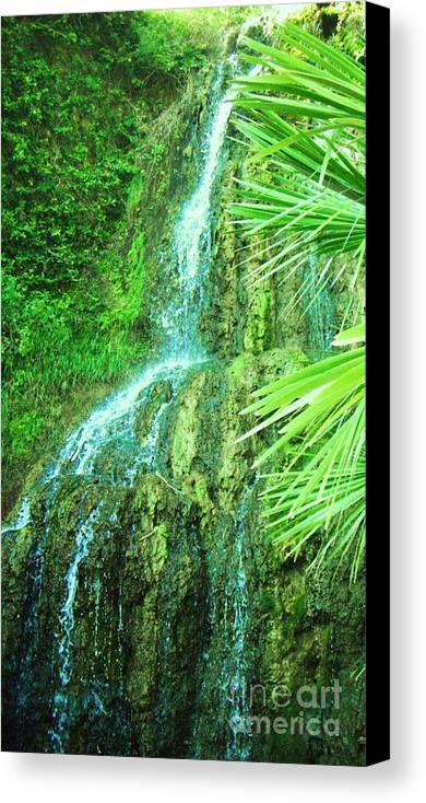 Waterfall Canvas Print featuring the photograph Waterfall 4 by Esther Rowden