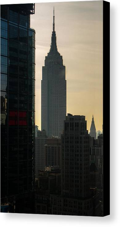 New York City Canvas Print featuring the photograph Nyc Skyline by Michael Flood