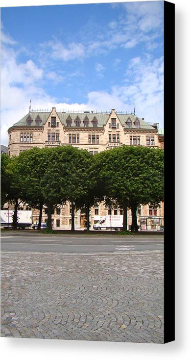 Trees Canvas Print featuring the photograph Stockholm City by Lydia Anderson