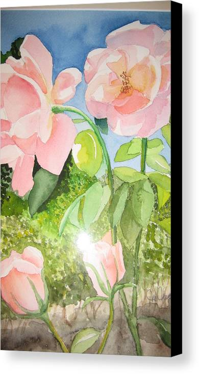 Flowers Canvas Print featuring the painting Pink Dream by Mabel Moyano
