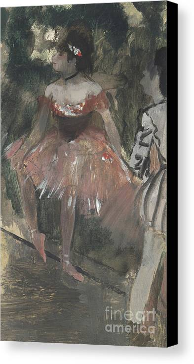 Degas Canvas Print featuring the painting Dancers by Edgar Degas