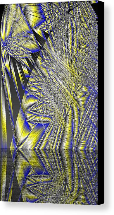Rithmart Abstract Lines Organic Random Computer Digital Shapes Acanvas Art Background Colors Designed Digital Display Images One Random Series Shapes Smooth Spiky Streaming Three Using Canvas Print featuring the digital art Ac-7-108-#rithmart by Gareth Lewis