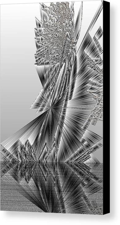 Rithmart Abstract Lines Organic Random Computer Digital Shapes Acanvas Art Background Colors Designed Digital Display Images One Random Series Shapes Smooth Spiky Streaming Three Using Canvas Print featuring the digital art Ac-7-18-#rithmart by Gareth Lewis