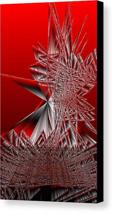 Rithmart Abstract Lines Organic Random Computer Digital Shapes Acanvas Art Background Colors Designed Digital Display Images One Random Series Shapes Smooth Spiky Streaming Three Using Canvas Print featuring the digital art Ac-7-28-#rithmart by Gareth Lewis