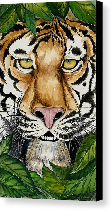 Art Canvas Print featuring the painting Be Like A Tiger by Carol Sabo