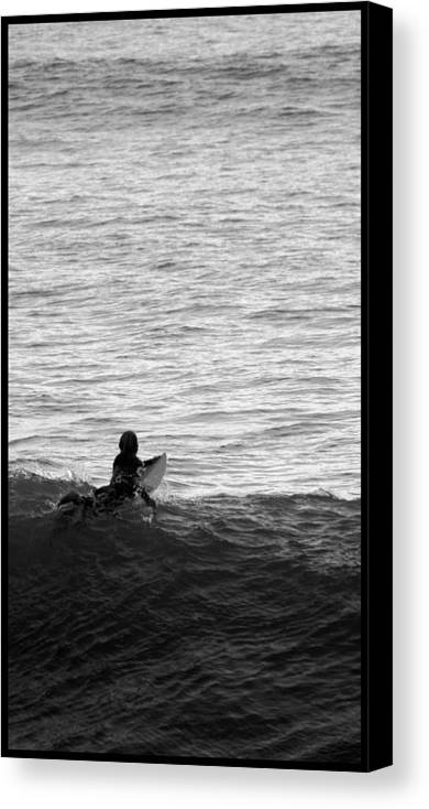 San Clemente Pier Canvas Print featuring the photograph California Surfing by Brad Scott