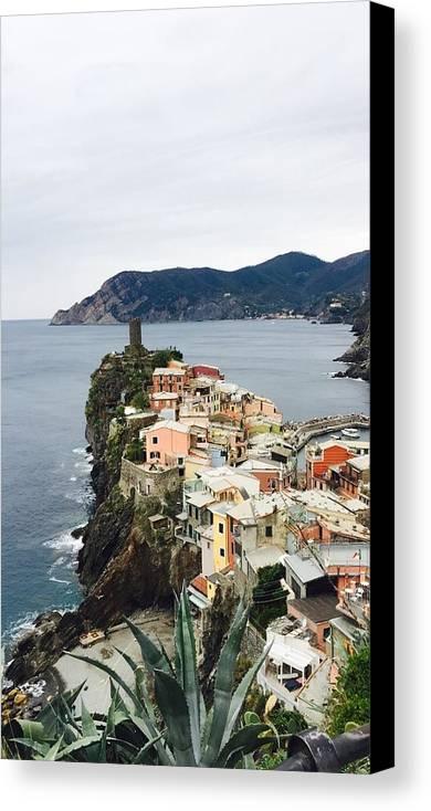 Cinque Terre Canvas Print featuring the photograph Cinque Terre by Abigail Scott