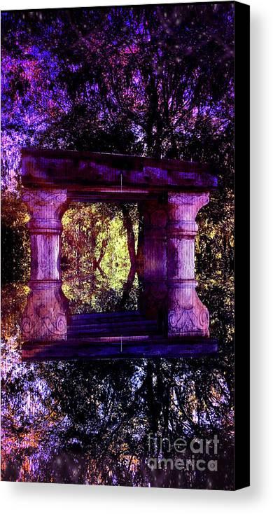 Cosmic Canvas Print featuring the digital art Cosmic Wisdom by JD Poplin