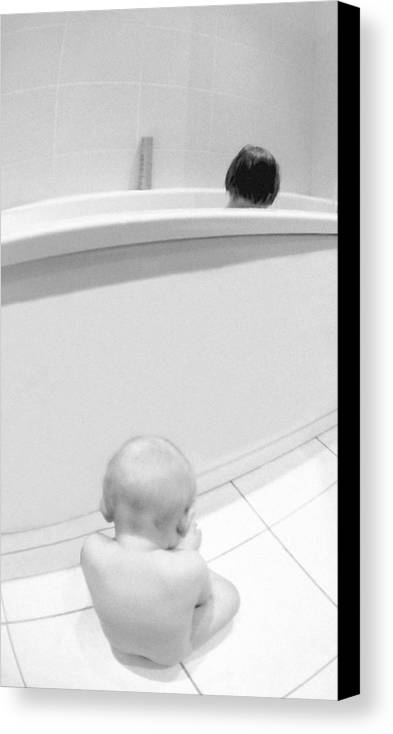 Brothers Canvas Print featuring the photograph Could You Give Me Some Shampoo by Deividas Kavoliunas